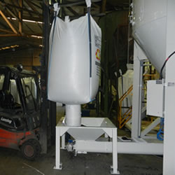 Auger System for feeding material into mixer